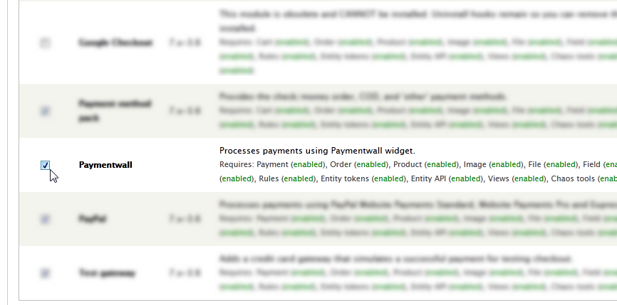 Activate Paymentwall Module