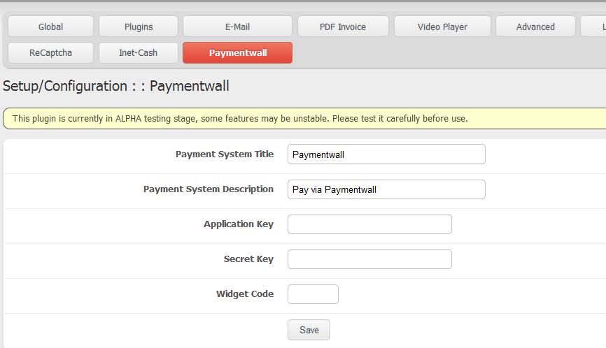 Paymentwall in NavBar